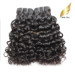 Malaysian Hair Weaves Deep Curl Water Wave Human Hair Extensions Double Weft Natural Color 4pcs lot Drop Shipping Bellahair