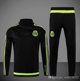 Wholesale DHL Best Quality Copa Mexico Jerseys training suit survetement chandal football clothes with long sleeve tight pants tracksuits Jersey