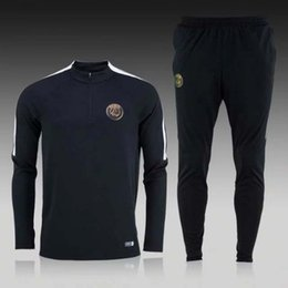 Wholesale NEW paris PSG tracksuits survetement football clothes long sleeves tight pants sportswear PSG winter training suit