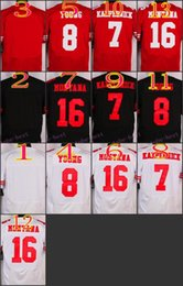 Wholesale NIK Elite Football Stitched ers Kaepernick Young Montana Blank White Red Black Jerseys Mix Order