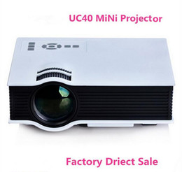 Wholesale 2016 Newest Original UNIC UC40 Projector Mini Pico Portable Projector D Projector HDMI Home Theater Beamer Multimedia Video