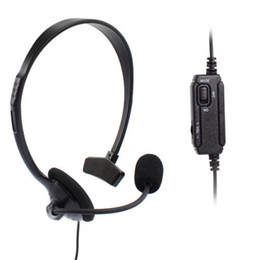 100% New Brand Earphone Wired Gaming Headset and volume Control For Sony Playstation 4 High Quality Headset For PS4 Free Shipping