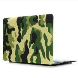 Promotion macbook shell 13 Couvercle en plastique Crystal Case eau Decal Coque de protection pour MacBook Air Pro Retina 11 12 13,3 15,4 pouces Camouflage caoutchoutée Cases