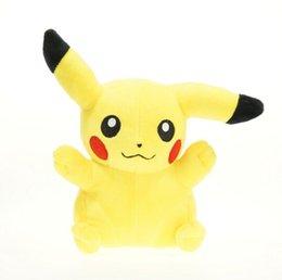 Wholesale Pikachu Plush dolls Poke plush toy cartoon poke Stuffed animation toys cm soft Christmas toys best Gift