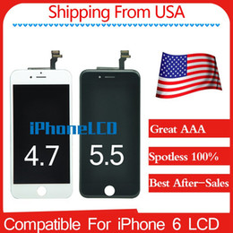 Wholesale Ship from USA Grade A Spotless LCD Display Assembly With Frame brand new For iPhone Black White Best after sales services