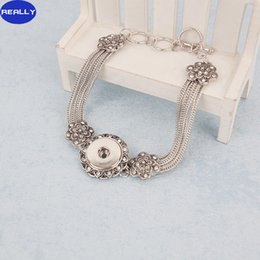 REALLY Hotsale Noosa Chunks Snap Jewelry,Trendy Antique Silver Plated Snap Button T-bar Fastening Closer Ginger Snaps Bracelets Jewelry