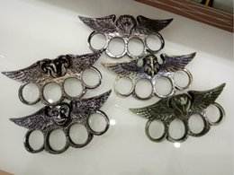 Wholesale Steel ring knuckles self defense products security products eagle sheep zodiac monkey image Ring Ring python