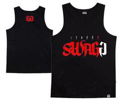 New Fashion loose sport Tank Top T Shirts Logo Print Sleeveless Boy Cotton Men SINGLET Skateboard Street sgagg Hip-hop Sport Tank
