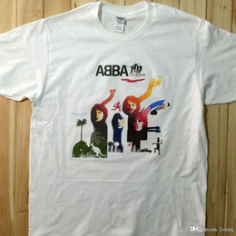 Wholesale ABBA The Album Rock Music Band CD T Shirts Unisex AB4