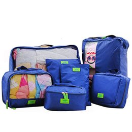 Wholesale Set Traveling Bag In Bag Organizer Wash Bag Unisex Clothes Shoes Socks Storage Bag Outdoor Travel Luggage Pouch