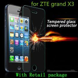 For Motorola moto E4 Metropcs G5 PLUS G4 PLAY Tempered Glass Screen Protector Film for ZTE grand X3 ZMAX 2 Z958 Axon pro