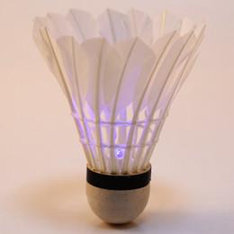 Wholesale-4pcs Colorful Night Badminton LED Lighting for Button Foam Build Sport Game Badminton Supplies