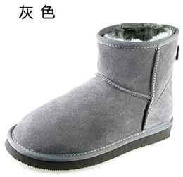 Wholesale 2016 Australian Style Snow Boots Women Cowhide Leather Winter Shoes For Female Good Quality European Size Wholesales