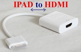 Wholesale 400pcs FOR ipad to HDMI P Dock Connector to HDMI Adapter AV Cable HDTV TV HDMI Cable Adapter for iPhone S iPad
