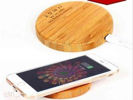 Wholesale Bamboo Wooden wireless phone charger wood QI Wireless Charger Pad for iphone se plus samsung S6 S7 EDGE