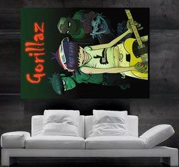 Gorillaz Manga Rock Band Manga Poster print wall art 8 parts giant huge Poster print art free shipping NO89