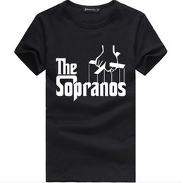 The Sopranos Logo Print Man T Shirt Fashion Hip Hop Fitness Sport Short Sleeve Men Shirts Plus Size Cotton Tees Camisa AMD238