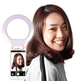 Anillo de luz led de la cámara en venta-Led Flash Spotlight Luz de relleno para iPhone y Android Luz de anillo de Selfie Luz de la cámara de fotos de la cámara Flash Speedlite para el círculo de teléfonos