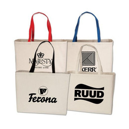 Wholesale Personalized Logo Printing Canvas Tote Cotton Fabric Travelling Bag Fashional Canvas Handbag Perfect For Trade Show Welcome Custom Orders
