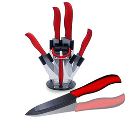 Wholesale Best ceramic kitchen knife quot paring quot utility quot slicing quot chef knife and one peeler with knife holder ceramic blade knives