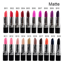 HOT NEW Makeup Matte Lipstick Popfeel Matte lipstick Matte waterproof lipstick with box High quality 3g 20colors (2803011)