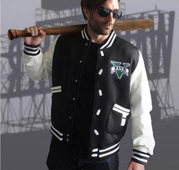 Wholesale Rockstar Games Game Fans Gift grand theft auto Cosplay Costume Hoodie Rider dress baseball uniform Zipper size M XXXL Autumn Winter