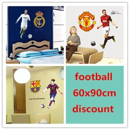 Wholesale World Cup Soccer Football Star Ronaldo Wall Stickers School Sports Wall Decal For Boys kids room Bedroom school Poster Wallpaper DF9906