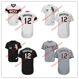 Wholesale 12 Tim Anderson Jersey MLB Baseball Chicago White Sox Jerseys Flexbase Red Black Grey White Cream size XL XL
