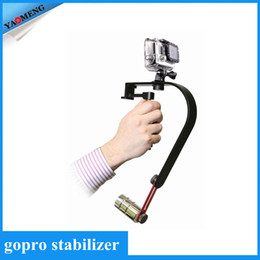 Wholesale 2015 Handheld Steadicam Camera Video Stabilizer for GoPro Smartphones Cameras Camcorders with Phone Holder GoPro Adapter