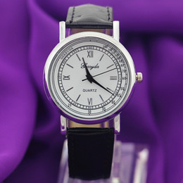 Free shipping!Promotional price!PVC leather band,silver plate alloy round case,marker dial,Gerryda fashion unisex quartz leather watches