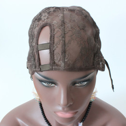 1PC XS XL XXL Right side U part wig cap For Making Wigs Glueless Wig Caps Adjustable Strap Stretch Fast Shipping