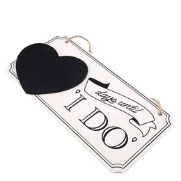 Wholesale Affair Wedding Venue Sign I DO Wooden Heart Blackboard Decorations Gift Decor