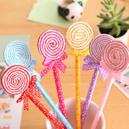 20pcs lot lollipop Pens Children Stationery Learning Writing Ballpoint Pen Cute Fashion Children Kid Prize Gift Blue Gift Papelaria