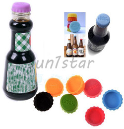 New Arrival Fashion thing Soft Silicone Bottle Cap Wine Beer Savers cover For Kitchen & Bar mix color DHL Free