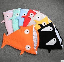 Wholesale Shark Baby sleeping bags Ins Winter baby blanket ChumBuddy Sleeping Bag Envelope cotton quilt for years kids Comfort