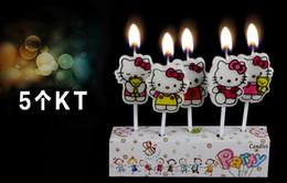 Wholesale Hello kT superman Cute Cartoon candles pieces a baking Festival Event Party Supplies Party Decoration