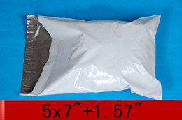 Wholesale White Mailing Bags x inch x178mm self seal Poly mailer bag Plastic express envelope courier bag