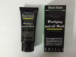 Wholesale 1000pcs Best Selling SHILLS Deep Cleansing purifying peel off Black mud face mask Remove blackhead face mask ml