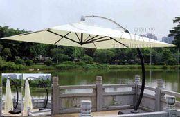 Wholesale 3 meter aluminum deluxe outdoor patio sun umbrella garden parasol sunshade furniture covers with wheels for Christmas