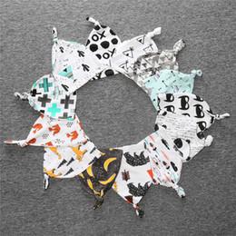 Wholesale Baby hats infants newborn knot hat years cotton Birthbaby bonnet Ins Fruit animal patterns new autumn winter prints