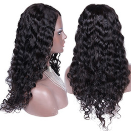 2016 New Sexy Long Brazilian Human Hair Full Lace Wigs Natural Water Wave Full Lace Front Human Hair Wig with Baby Hair