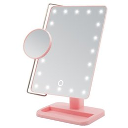 Wholesale 10X magnifying Makeup Mirror adjustable LED Lighted Cosmetic Mirror Hollywood Lady Vanity Make up Mirror