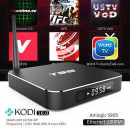 Wholesale XBMC Google Internet TV Box T95 Amlogic S905 Quad Core Wifi G Kodi16 Google App supported Best Android Media Player
