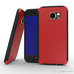 Wholesale Galaxy S6 Cases PC PET TPU fuel injection protective cover New samsung s6 case scratch resistant non slip free DHL shipping