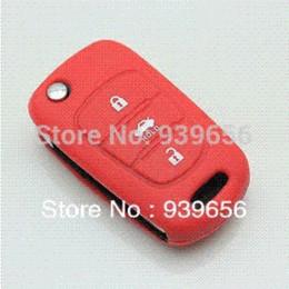 Promotion silicone couvre pour les télécommandes 2013 Hot Sale Silicone Car Key Cover Car Key Holder Pour le contrôle à distance pour KIA RIO 2012 Expédition K2 K5 Sportage Hyundai gratuit