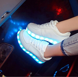 2016 Led shoes for adults led casual men shoes led luminous shoes plus size light up casual shoes for adults