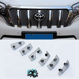 Wholesale Super Quality Stainless Steel set Car Racing Grills For Toyota Land Cruiser Prado Front Grill Grille Cover Trim
