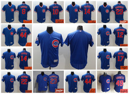 Wholesale Elite Chicago Cubs Custom Ron Santo Ernie Banks Kris Bryant Anthony Rizzo Jake Arrieta Signed Jersey Signature Men