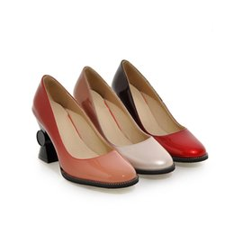 Fashion Women's Synthetic Leather Strange Style High Heel Pumps Gradient Color Square Toe Shoes S258 US Size 4 -10.5