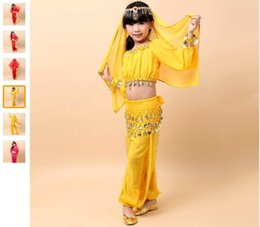 2018 Belly Dancing For Girl Belly Dance Costume 3PS (Top+Waist Chain+ Pants) Clothes For Dancing 3colors Free Shipping Indian Dress
